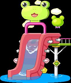 3015236ケロケロウォータースライド椅子(ピンク)2