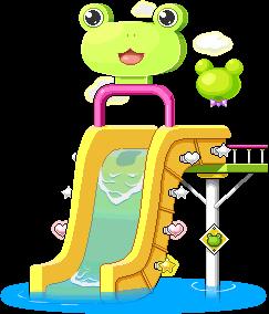 3015263ケロケロウォータースライド椅子(イエロー)2