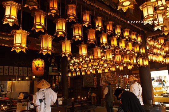 一番札所 霊山寺 本堂 吊り灯篭
