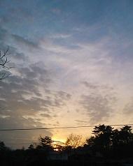 16時半には日没