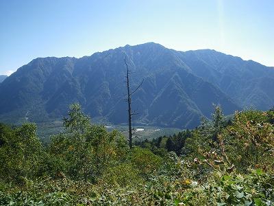 大正池と霞沢岳