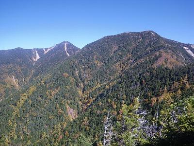 木賊山と甲武信岳