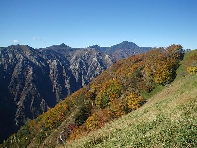 松木と皇海山