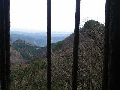 御岳山が見える