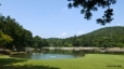 毛越寺、州浜から浄土庭園