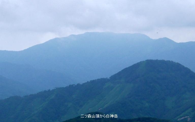 二ツ森山頂から5、白神岳
