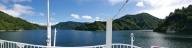 奥只見湖遊覧船からのパノラマ
