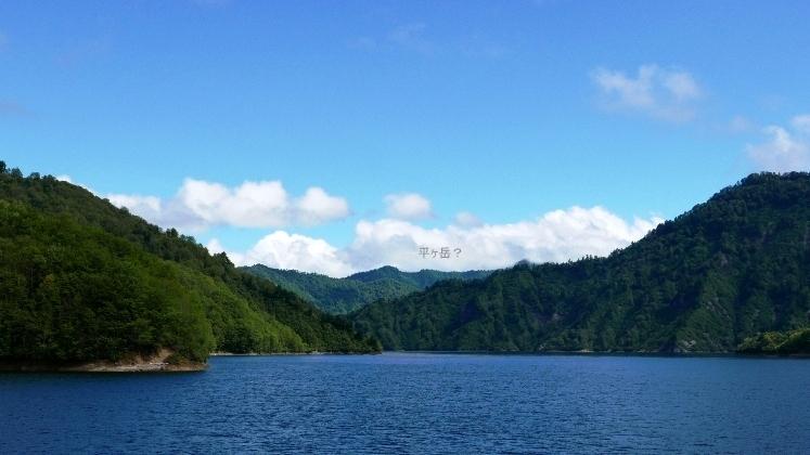 奥只見湖遊覧船から平ヶ岳