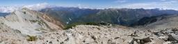 薬師岳山頂からのパノラマ写真