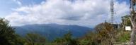大山から丹沢山塊のパノラマ