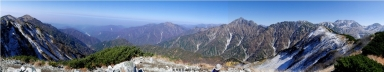 奥大日岳山頂からのパノラマ
