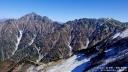 奥大日岳山頂から剱岳1