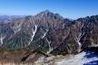 奥大日岳山頂から剱岳2