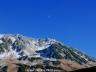 立山上空の月