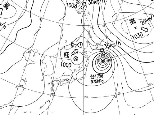 20150911_12時_天気図