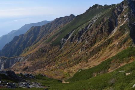 65赤薙岳の斜面