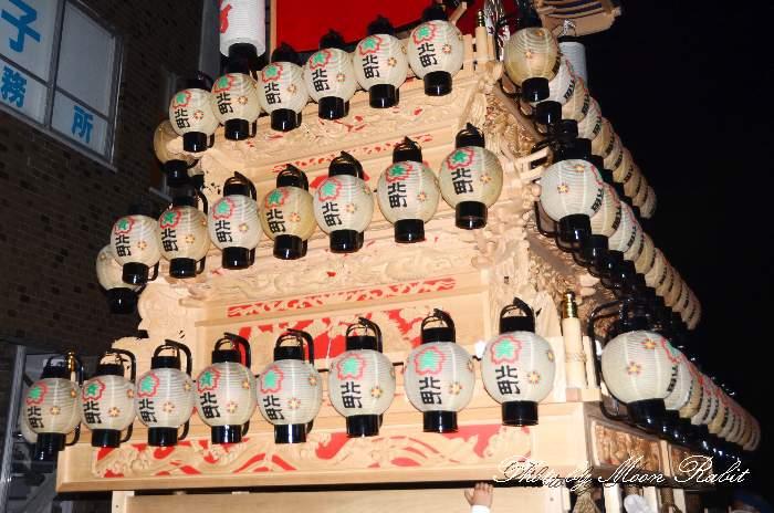 祭り提灯 喜多町屋台(北町だんじり)