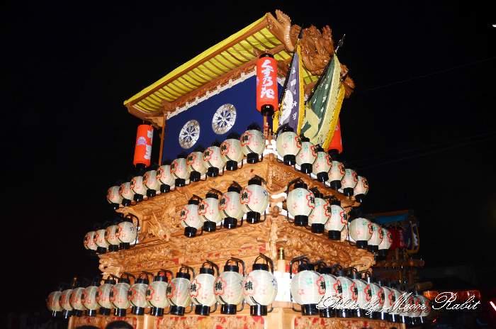 祭り提灯 楠屋台(楠だんじり) 西条祭り 伊曽乃神社祭礼 愛媛県西条市