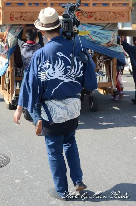 上神拝屋台(上神拝だんじり)  祭り装束 西条祭り