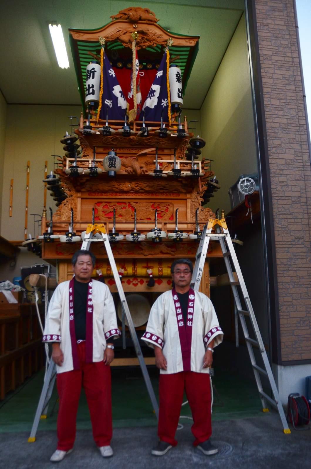 新出屋台(新出だんじり) 祭り装束