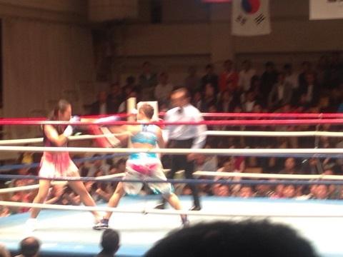 女子ボクシング藤原3