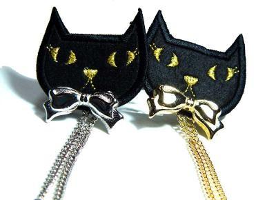 猫ブローチ01