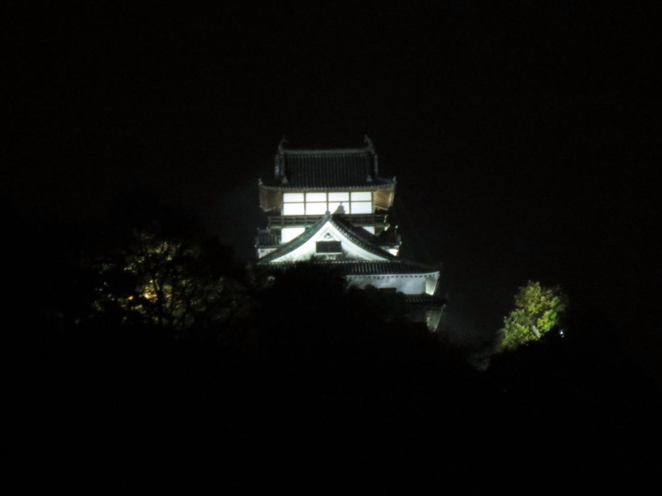 6階レストランから見た犬山城