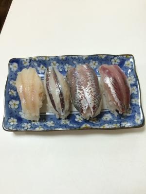 四魚種の握り寿司