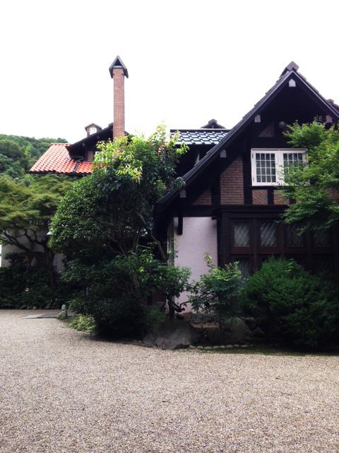 大山崎山荘美術館でモルフォ蝶展示されています