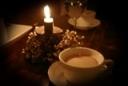 飲み物-コーヒーとキャンドル