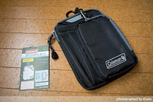 大型スマホケース ファブレット iPhone6 Plus クツワ コールマン ステーショナリーポーチ(ブラック)004CMBK 01