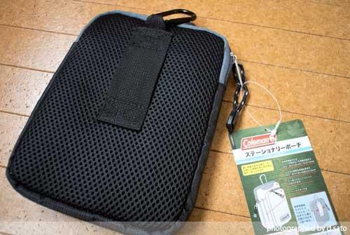 大型スマホケース ファブレット iPhone6 Plus クツワ コールマン ステーショナリーポーチ(ブラック)004CMBK 03