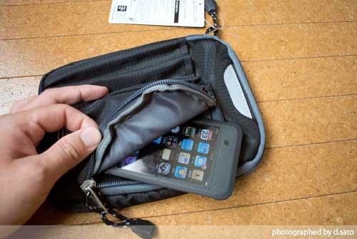 大型スマホケース ファブレット iPhone6 Plus クツワ コールマン ステーショナリーポーチ(ブラック)004CMBK 06