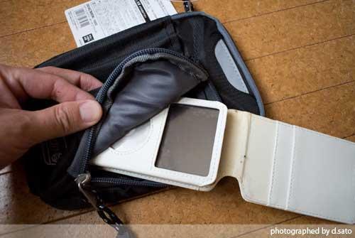 大型スマホケース ファブレット iPhone6 Plus クツワ コールマン ステーショナリーポーチ(ブラック)004CMBK 08