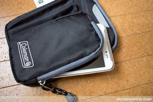 大型スマホケース ファブレット iPhone6 Plus クツワ コールマン ステーショナリーポーチ(ブラック)004CMBK 09