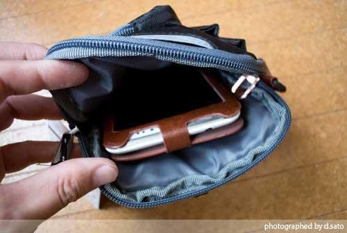 大型スマホケース ファブレット iPhone6 Plus クツワ コールマン ステーショナリーポーチ(ブラック)004CMBK 11