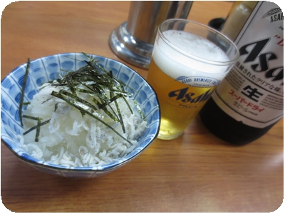 瓶ビール+お通し