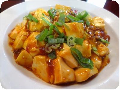 冷しマーボー麺と半チャーハン