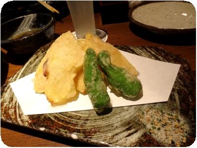 新しょうがの天ぷら