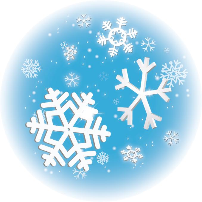 雪の結晶青円