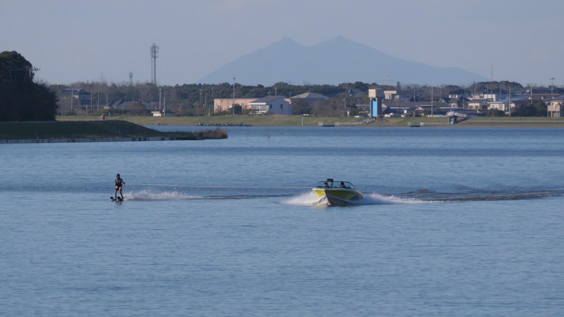 2015シーズン最後の週末練習筑波山背景