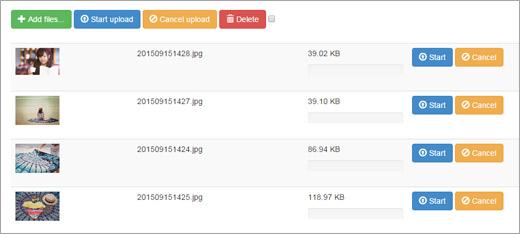 同時に複数のファイルをアップロード可能
