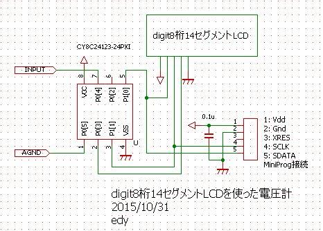 digit14segLCD電圧計