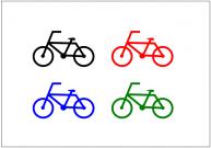 自転車のフリー素材・画像・イラスト・テンプレート