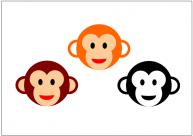 猿の顔のフリー素材・画像テンプレート