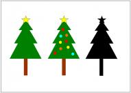 クリスマスツリーのフリー素材・画像・イラスト・テンプレート