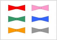 蝶ネクタイのフリー素材・画像・イラスト・テンプレート