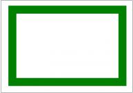 飾り枠・緑の太線のフリー素材・画像テンプレート