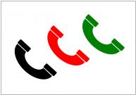 受話器のフリー素材テンプレート・画像・イラスト