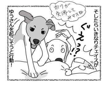 羊の国のラブラドール絵日記シニア!!「朝の押し出し」2